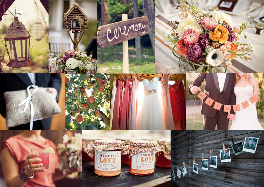 Rustic Peach & Apricot {full suite} | SouthBound Bride