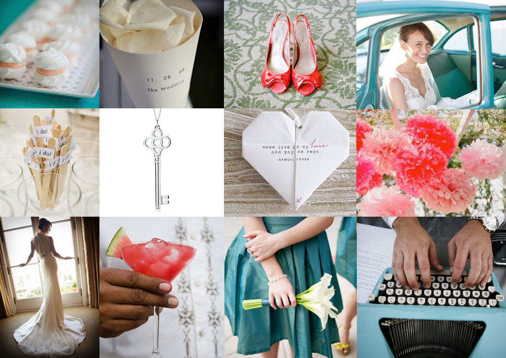 Inspiration board: Aqua & watermelon | SouthBound Bride