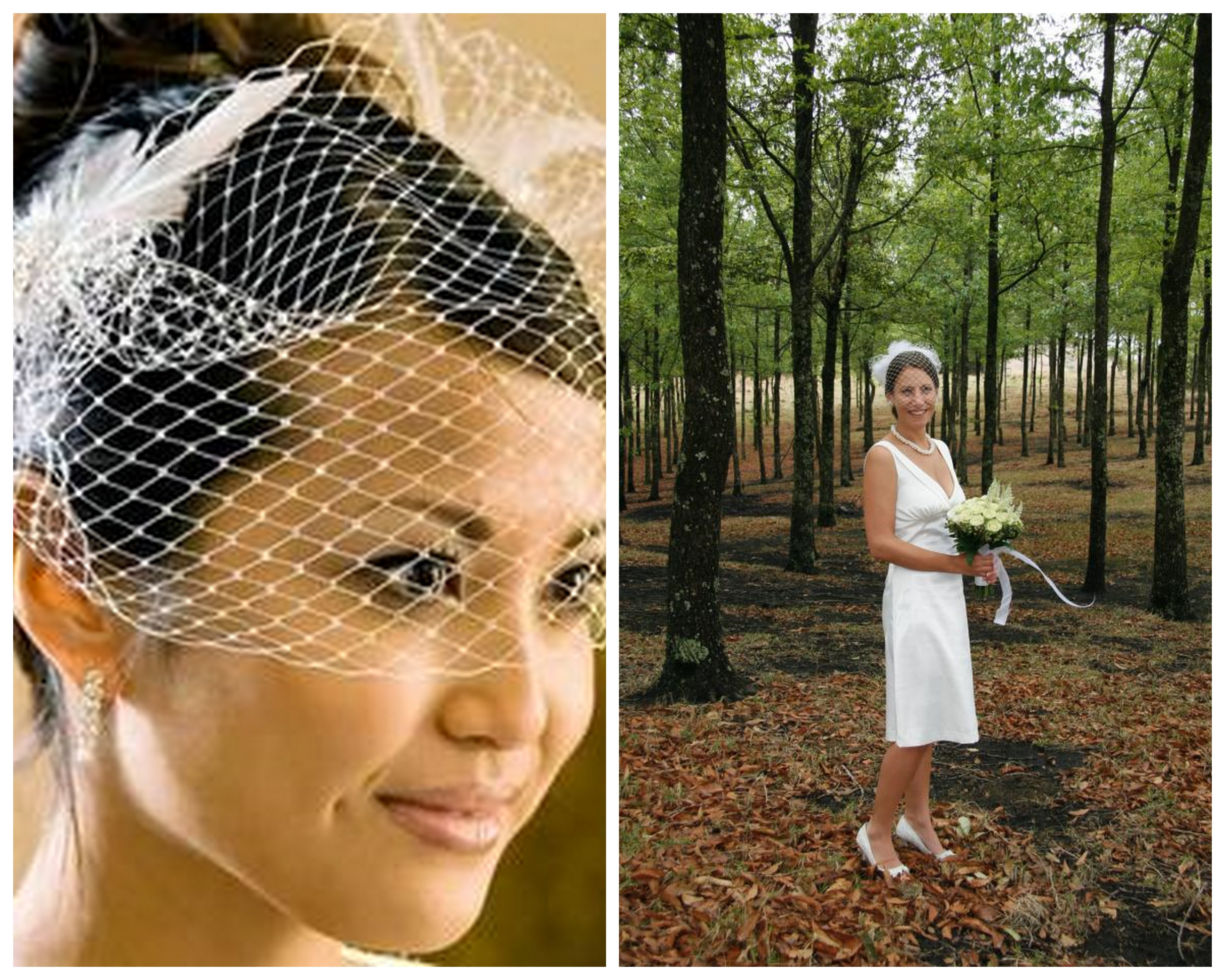 like wearing a bird cage veil or a fascinator in your hair