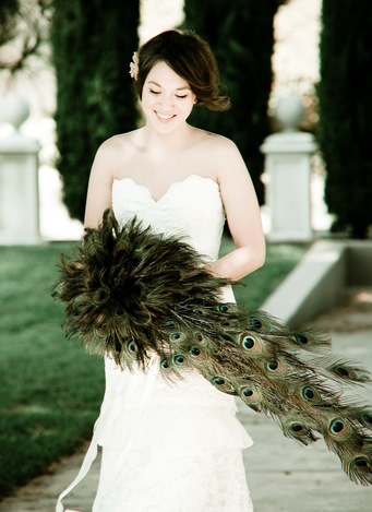 If you 39re having a peacock wedding you have GOT to see this bouquet