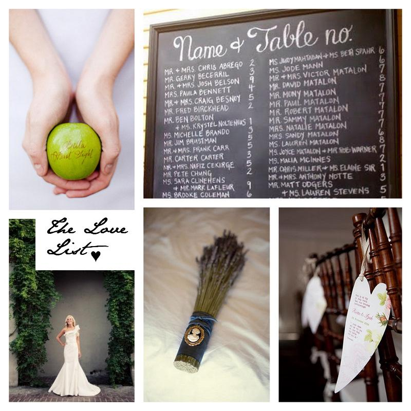 The Love List {9 Jul 2010} | SouthBound Bride