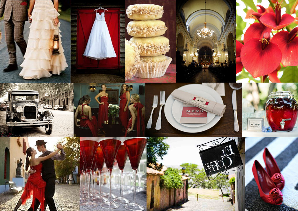 Inspiration Board: Montevideo Red | SouthBound Bride