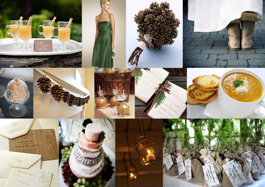 Inspiration Board: Pine & Cider | SouthBound Bride