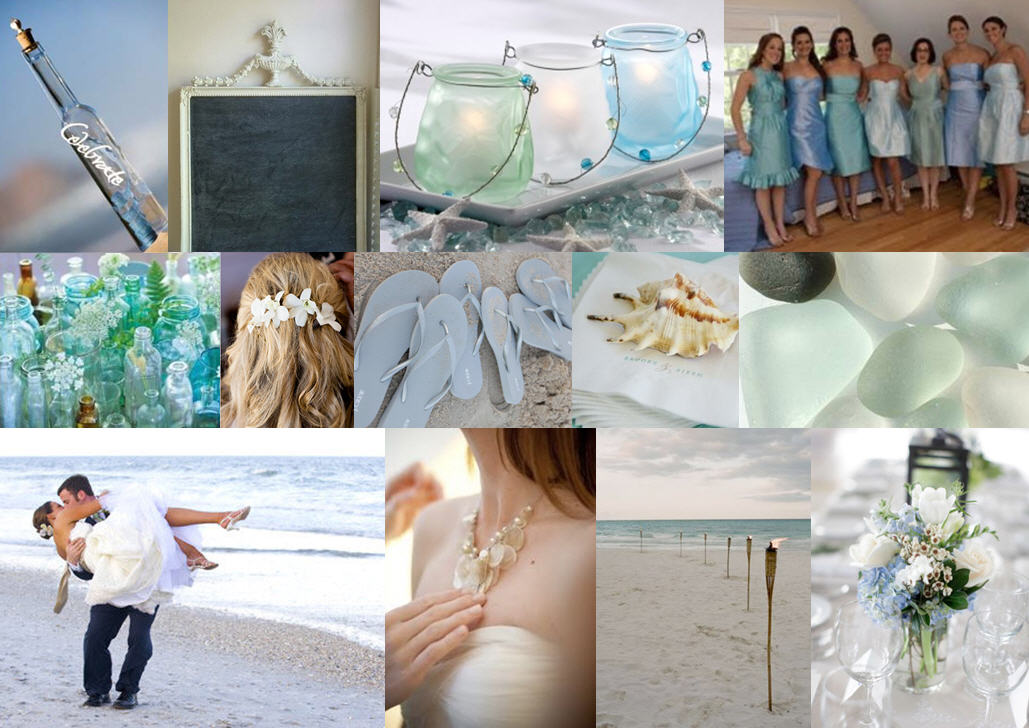 Inspiration Board: Sea Glass | SouthBound Bride