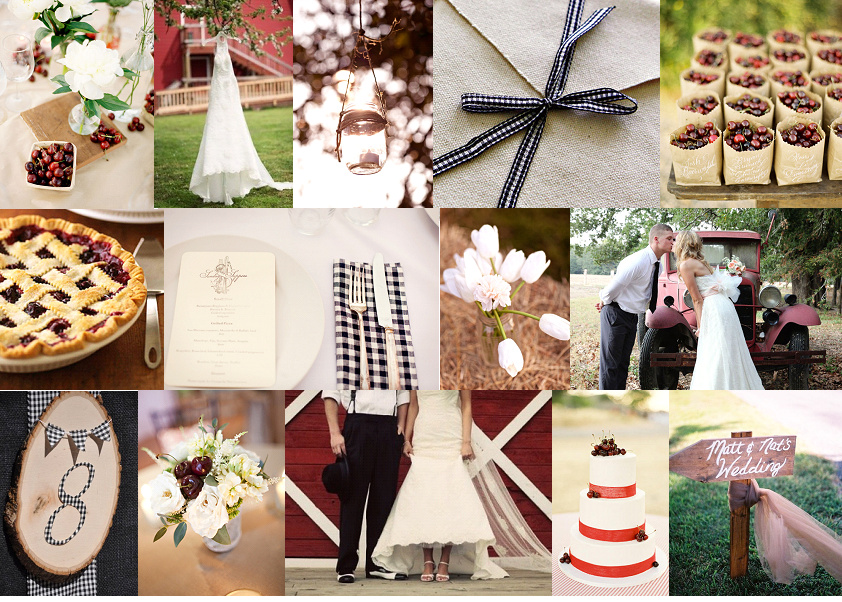 Inspiration Board: Cherries & Gingham | SouthBound Bride