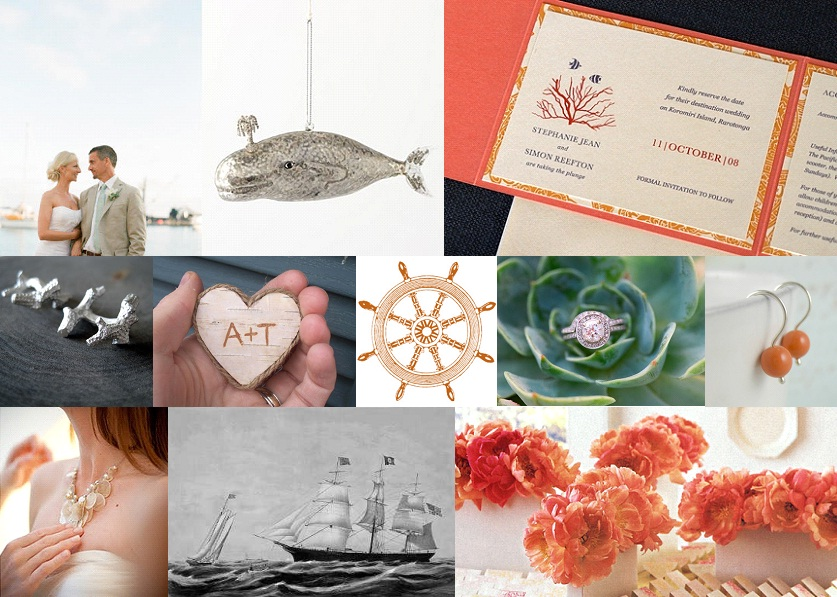 Inspiration Board: Coral & Grey | SouthBound Bride