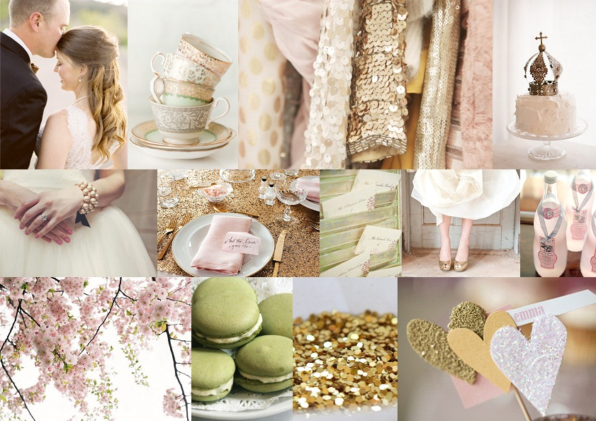 Inspiration Board: Sparkle & Blush | SouthBound Bride