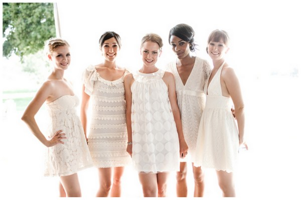White Bridesmaid Dresses | SouthBound Bride