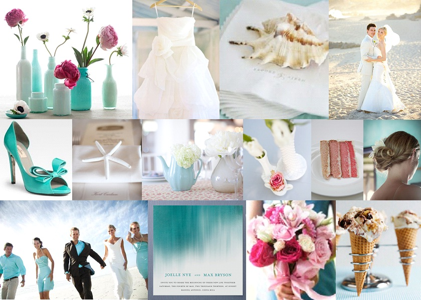Aqua & Rose {full suite} | SouthBound Bride