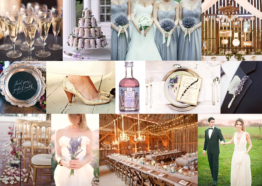 Inspiration Board: Lavender Glam | SouthBound Bride