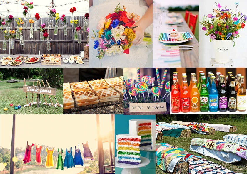 Inspiration Board: Will We Have Rainbows? | SouthBound Bride