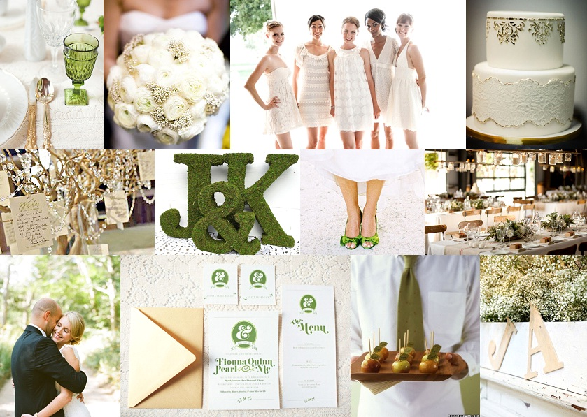 Inspiration Board: Green & Gold | SouthBound Bride