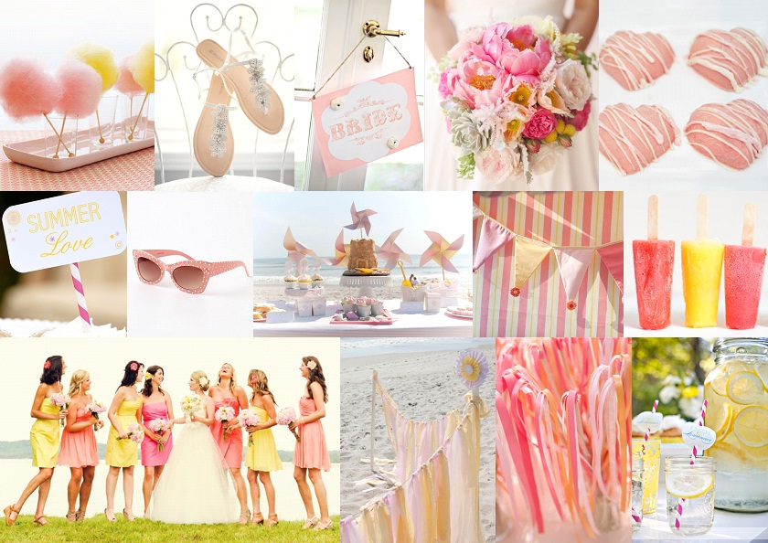 Inspiration Board: Candyfloss & Lemonade | SouthBound Bride