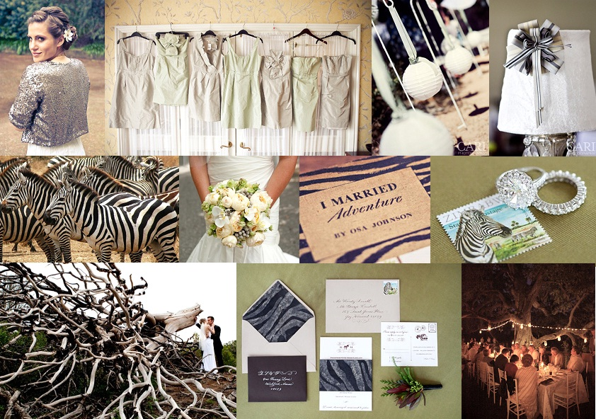 Inspiration Board {1 Theme 3 Ways}: Chic Safari | SouthBound Bride