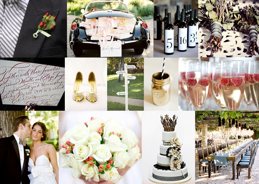 Inspiration Board: Berries & Stripes | SouthBound Bride