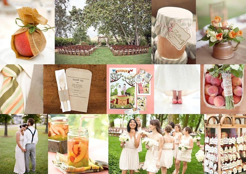 Inspiration Board: Just Peachy | SouthBound Bride